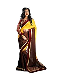 Bikaw Embroidered Yellow Georgette Party Wear Saree - BT-1198-A5