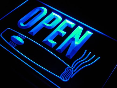 Insegna al neon j737-b OPEN Cigars Shop Smoking Bar Neon Light Sign