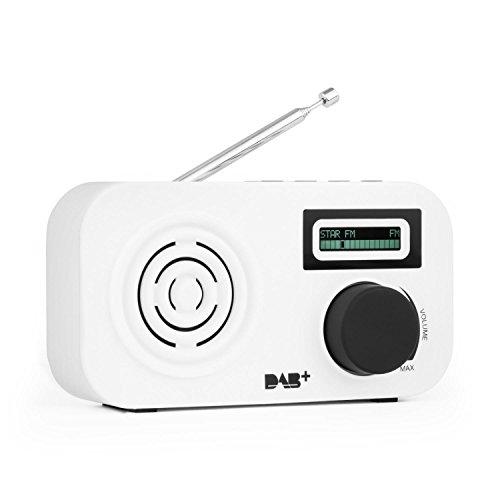 Auna Micro-DAB Mini Radio digital Radiowecker DAB+ (RDS, Sleeptimer, 2 Wecker, mit Snooze, Batterie-und Netz-Betrieb) schwarz