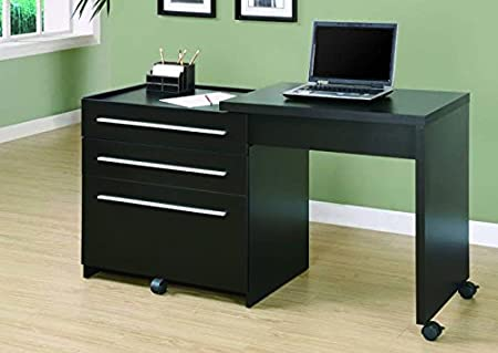 CAPPUCCINO SLIDE-OUT DESK WITH STORAGE DRAWERS (SIZE: 30L X 22W X 30H)