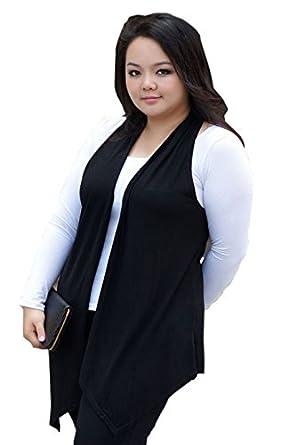 Size Long Vest Sleeveless Cardigan at Amazon Women's Clothing store