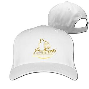 Louisville Cardinals Gold Style Baseball Snapback Cap White