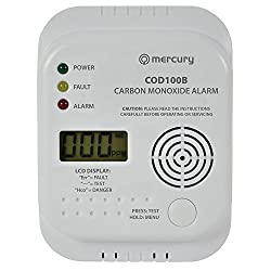 Mercury Carbon Monoxide House Office Alarm with LCD Display by kenable