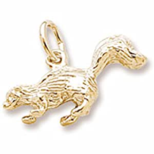 Gold Plated Skunk Charm, Charms for Bracelets and Necklaces