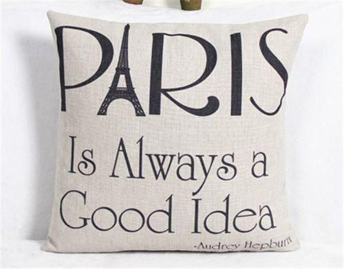 [18'' Home Decor Cotton Linen Throw Pillow Case Romantic Sofa Waist Cushion Cover] (White Trash Costume Ideas Pictures)