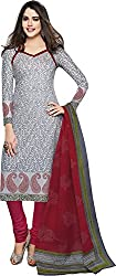 Pranjul Women'S Cotton Unstitched Dress Material (Grey) (PA409)