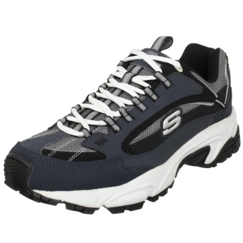 Skechers Sport Men's Stamina Nuovo Sneaker,Navy/Black,10.5 M US