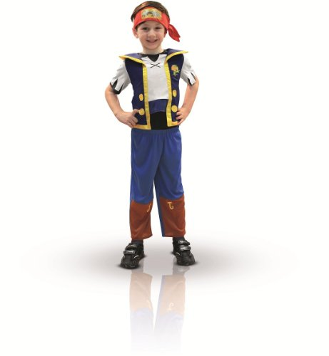 Jake - Jake and the Never Land Pirates - Childrens Fancy Dress Costume - Medium - 116cm - Age 5-6