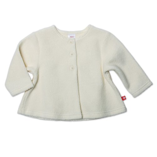 Zutano Baby Girls' Cozie Swing Jacket, Cream, 12 Months