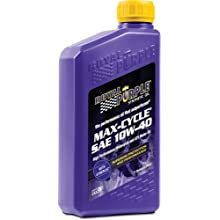 Royal Purple 01315 Max Cycle 10W-40 High Performance Synthetic Motorcycle Oil - 1 Quart