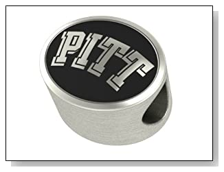 Pitt Panthers Collegiate Bead Fits Most Pandora Style Bracelets Including Pandora Chamilia Biagi Zable Troll and More. High Quality Bead in Stock for Immediate Shipping