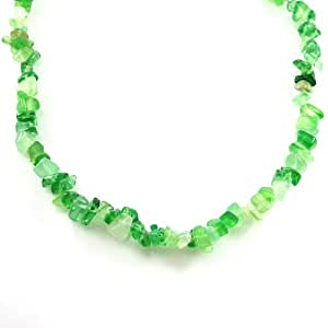 "MGD, Agate Color Bead 33"" Single Strand Green Necklace Fashion Jewelry for Women, Teens and Girls., JB-0113N"