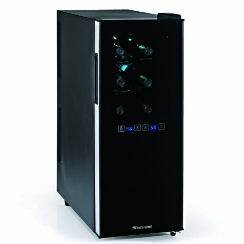 Wine Enthusiast Silent 12 Bottle Dual Zone Touchscreen Wine Refrigerator Slimlin