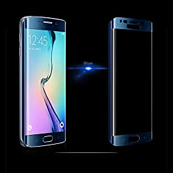 Samsung Galaxy S6 Edge Curve Tempered Glass Screen Protector ( BLUE )