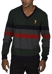 US POLO ASSOCIATION Men's Blended Sweatshirt (USSW0424_Black_Small)