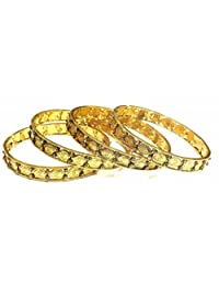 Shingar Jewellery Ksvk Jewels Antique Gold Plated Bangles Set For Women (9282-m-c-p)