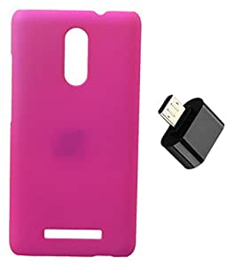 Toppings Hard Case Cover With Micro USB OTG Adapter For Xiaomi Redmi Note 2 Pro - Pink