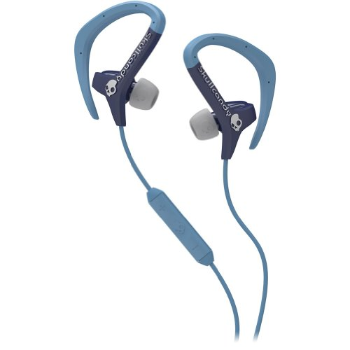 Skullcandy Chops With Mic3 Earphones/Earbuds Stereo Headphone - Navy/Light Blue / One Size