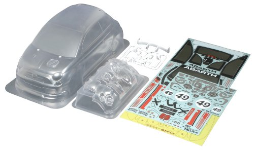 Tamiya 51387 1/10 Abarth 500 Assetto Corse Body Parts Set