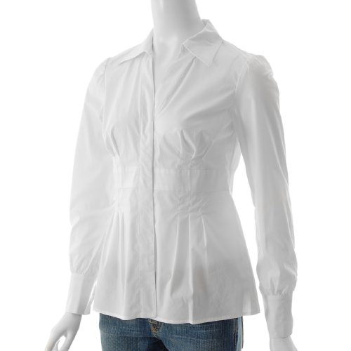 Long Sleeve V-neck Stretch Blouse