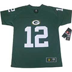 Aaron Rodgers #12 Green Bay Packers NFL Youth Peformance Jersey T-shirt Green (Youth... by OuterStuff