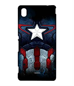 Cap Am Suit Phone Cover for Sony M4 Aqua by Block Print Company
