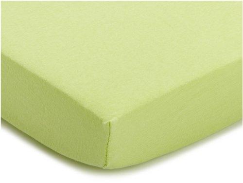 Julius Zöllner 8320113340 - Lenzuolo con angoli elasticizzati in jersey per lettino, misure 60 x 120/70 x 140 cm, colore: Verde