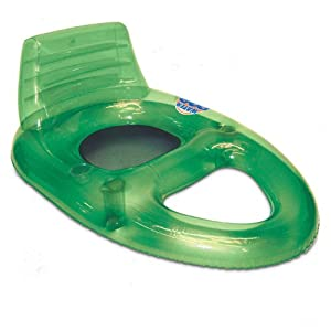 Deluxe Water Pop Pool Lounger Color: Green