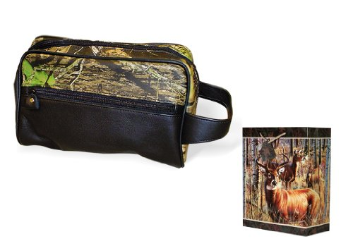 Camo Travel Bag Mossy Oak Break Up Genuine Camo Leather Toiletries Bag