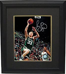 Larry Bird signed Boston Celtics 8x10 Layup Photo Custom Framed- Bird Hologram by Athlon Sports Collectibles