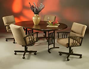 dining set caster chairs pastel dining room furniture sets