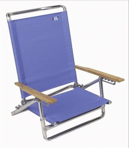 High Back 5 Position Beach Chair Solid