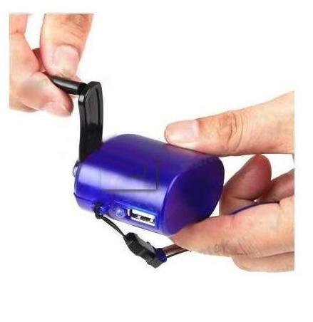 Innovative Digital Hand-Crank USB Cell Phone Emergency Charger