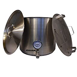 HomeBrewStuff 15 Gallon Heavy Duty Stainless Mash Tun w/ False Bottom