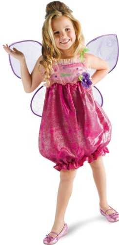 New Kids Girls Costume Barbie Thumbelina Fairy Outfit S Girls Small (Size 4-6X) ()