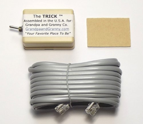 "On Off Switch for Telephone Fax Internet Modem and Any Device connected to a Single Line Phone Jack. The Telephone Remote Interrupt Control Kit. The ""TRICK"". Amazon Exclusive."