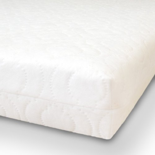 Quilted Anti-Allergenic Breathable Foam Cotbed Mattress. Size: 70cm x 140cm, 4
