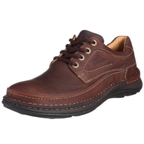 Clarks Nature Three Mahogany Leather 203390057100 Men's Lace-Up Shoes 10 UK