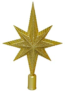 #!Cheap Barcana 12-Inch Shatterproof Gold Northern Star Christmas Tree Topper