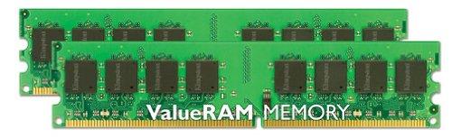 Kingston ValueRAM - Mémoire - 4 Go : 2 x 2 Go - DIMM 240 broches - DDR2 - 800 MHz / PC2-6400 - CL6 - 1.8 V - mémoire s