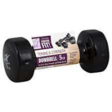Forever Fit by Denise Austin, Dumbbell, Toning & Strength, 5 lb 1 dumbbell