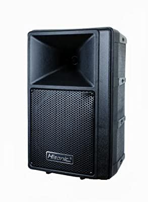 "Hisonic Professional 8"" Amplified Powered 2-Way PA Speaker, 80 Watts, HS687"
