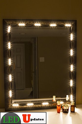 make up mirror led light warm white color with dimmer ul power adapter furniture cabinets. Black Bedroom Furniture Sets. Home Design Ideas