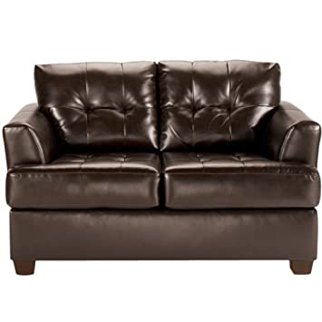 Ashley Signature Design 9460335 DuraBlend Chocolate Loveseat