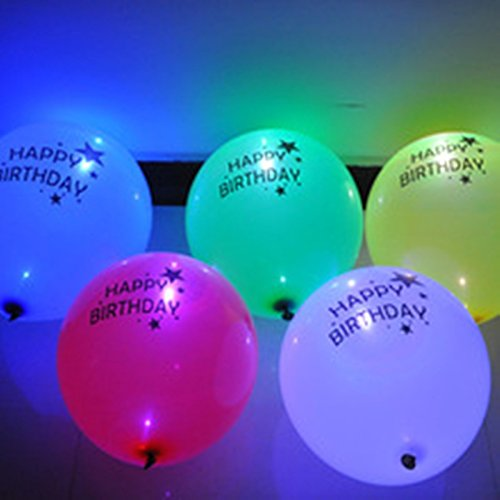 ShopAParty - LED Happy Birthday Balloons: Amazon.in: Toys & Games
