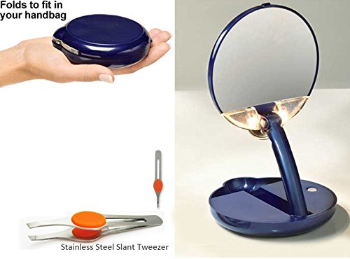 15X Mirror Lighted Adjustable Compact By Aswechange