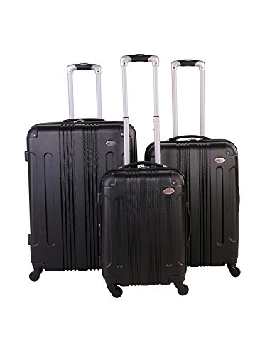 American Flyer Kova Hardside 3-Piece Luggage Set, Black