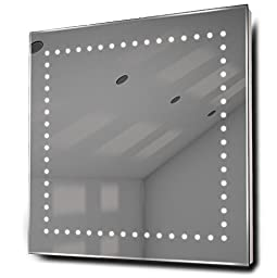 Box Ultra-Slim LED Bathroom Illuminated Mirror With Demister Pad & Sensor k9
