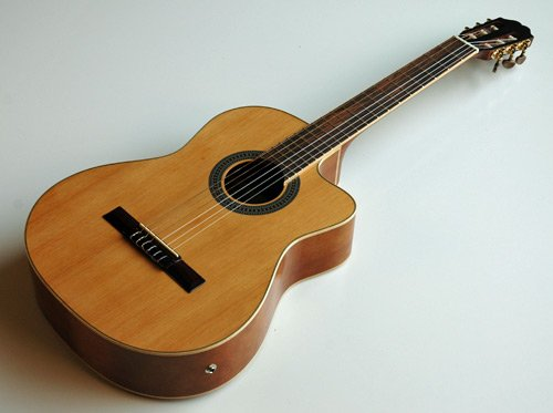 NEW SOLID CEDAR TRADITIONAL CLASSICAL ACOUSTIC ELECTRIC CUTAWAY GUITAR w/ EQ