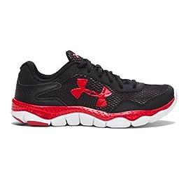 Under Armour Big Boys Grade School UA Engage II Running Shoes 4 Black